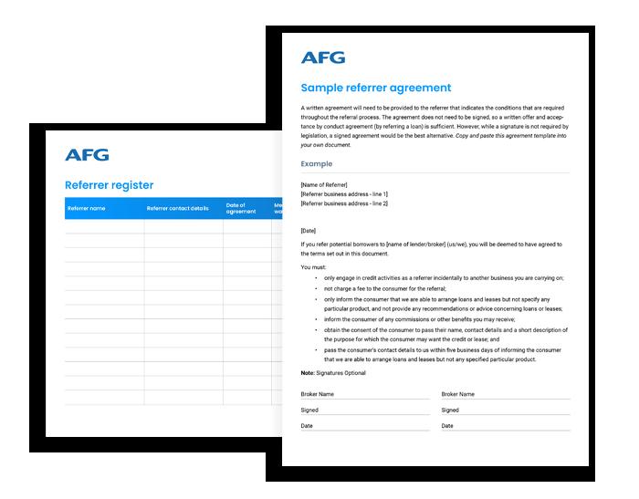 AFG Sample referrer agreement